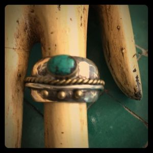 Sterling, 925 turquoise, unisex vintage ring